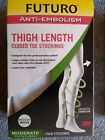 NIB, 45. Womens Futuro Anti-Embolism Thigh Length Stocking Moderate Support