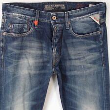 Mens Replay M909 JENNON Slim Straight Blue Jeans W32 L34