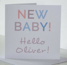 Personalised New Baby Boy card. New Baby Card for a boy or girl. Newborn Card.