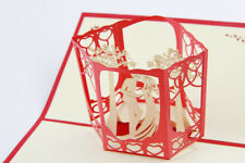 HAPPY WEDDING POP UP CARD 3D CARD KIRIGAMI CARD ORIGAMI CARD