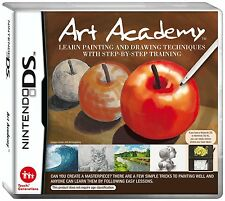 Art Academy [Nintendo DS DSi, Learn Pencil Brush Color Draw Paint Sketch] NEW