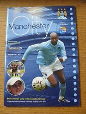 01/05/2004 Manchester City v Newcastle United  (Writing On Back)