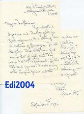 OTTOLA NESMITH Vintage Original RARE 2-Page AUTOGRAPH Letter & 1937 Photo