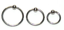 SURGICAL STEEL CBR BCR RING EITHER 6, 8 OR 10 MM BY 1 MM rook daith ear lip
