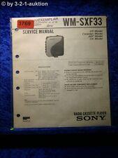 Sony Service Manual WM SXF33 Cassette Corder (#3769)