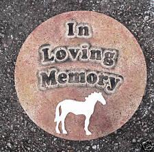 Plaster concrete Pet Memorial horse plastic mold