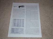 Dynaco FM-3 Tube Sintonizzatore Review, 1 Pg , 1964, Specifiche, Info