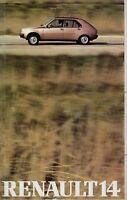 Renault 14 Prospekt 1977 Autoprospekt Aubrochure broschyr