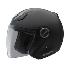 Scorpion EXO-200 Stripe 3/4 Open Face Motorcycle Helmet Matte Black Grey XLarge