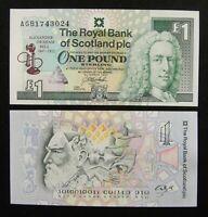 SCOTLAND Banknote 1 Pound 1997 UNC