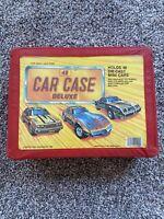 Vintage Tara Toy Corp Die Cast 48 Car Deluxe Red Vinyl Case USA