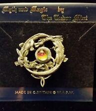 Circling dragons pin with crystal - The Tudor Mint (e)