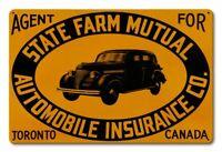 "STATE FARM MUTUAL AUTO INSURANCE CANADA 18"" HEAVY DUTY USA MADE METAL ADV SIGN"