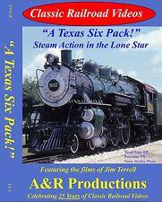 A TEXAS SIX PACK NEW DVD VIDEO CLASSIC RAILROAD VIDEOS A&R