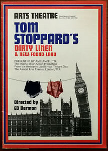 Dirty Linen & New-Found-Land by Tom Stoppard, Arts Theatre Programme 1976