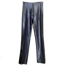 VINTAGE FREDERICK'S OF HOLLYWOOD Spandex Disco Pants Shiny Jeans sz 4 11/12 Gray