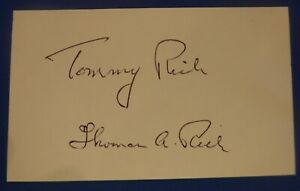 TOMMY RICH deceased 2011 auto signed autographed 3x5  Rochester Royals 1944-46