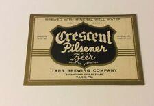 Crescent Pilsener Beer Irtp Label Tarr Brewing Co. Tarr Pa