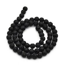 70 Stück Lavasteinperlen 6mm Perlen Lava Halbedelstein schwarz Lava Beads - 1519