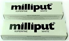 2 x Milliput Superfine Bianco Adesivo 2 PART EPOXY PUTTY 113g modello FILLER MUFFA