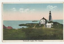 Yarmouth Lighthouse NS Canada Vintage Postcard 417a ^
