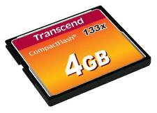 Transcend Compact Flash Memory 133X 4 Gb. New