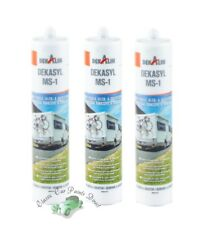 Dekalin Dekasyl MS-1 290ml x 3 Polymer Elastic Adhesive & Sealent **GREY**