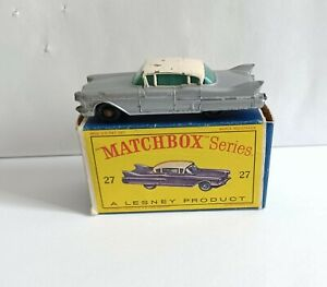 MATCHBOX 27 CADILLAC SIXTY SPECIAL.  RARE ERROR TWO DIFFERENT TYPES OF WHEELS!!