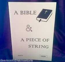 A BIBLE & A PIECE OF STRING Finbarr Occult Magic White Bible Grimoire Magick