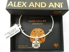 Alex and Ani Sand Dollar III Rafaelian Silver Bangle Bracelet NWTBC
