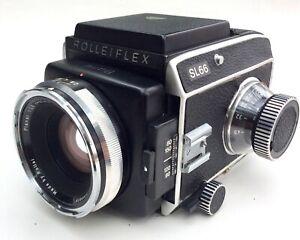 Rolleiflex SL 66, Planar HFT 2,8/80, Magazin, Lichtschacht, Frontdeckel, Rollei