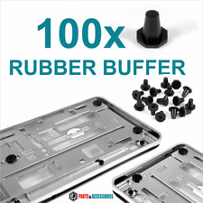 100x ​RUBBER BUFFER for Chrome Number Plate Holders Surrounds Bumper Protector