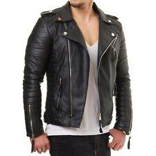 New Mens 100/% Genuine Leather Bomber Slim Fit Jackets  S M L XL 2XL 3XL 4XL SBG