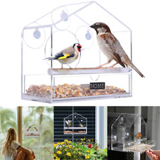 VIVOHOME Acrylic Window Bird Parrot Feeder House Squirrel Seed Tray Suction Cup