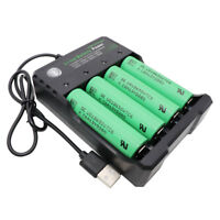 4X 18650 Battery 3000mAh 3.7V VTC6 Li-ion Rechargeable with 4 Slots USB Charger