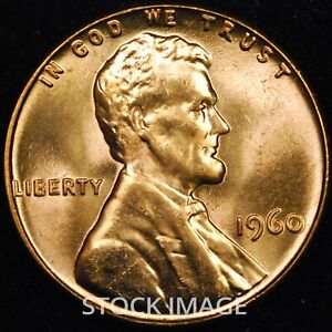1960-P Large Date Lincoln cent penny - GEM BU quality!