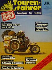 Touren-Fahrer Motorrad Reisen 6 / 87 1987, Walter Guzzi Gespann, Sauer BMW Gesp.