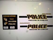 San Antonio Texas Police Supervisor Vehicle Decals 24 scale custom