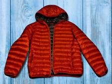Tumi Men's Burnt Orange Nano Hooded Packable Jacket