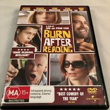 BURN AFTER READING Joel & Ethan Coen: George Clooney, Brad Pitt DVD Region 4 PAL