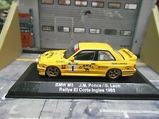 BMW M3 E30 Gr.A Rallye 1985 El Corte Ingles #1 Ponce Camel UMBAU IXO base 1:43