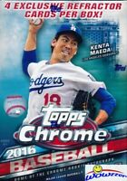 2016 Topps Chrome Baseball EXCLUSIVE Factory Sealed Blaster Box-SEPIA REFRACTORS