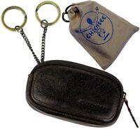 CHIEMSEE Schlüsseletui dark brown Schlüsseltasche Leder Schlüsselmappe key case