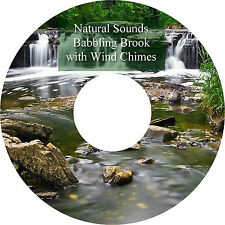Natural Sounds Babbling Brook & Wind Chimes CD Relaxation Stress Relief Calming