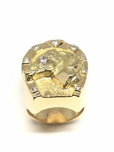 Signet Ring Gold Solid 18 Gold And Diamonds. 35 Grams