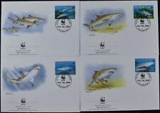 Tuvalu 2000 Sand Tiger Shark WWF FDC Set #C54349