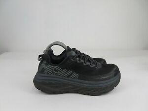 Hoka One One Bondi 5 Athletic Running Walking Shoes Black Womens Size 9 Wide