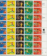 1991 29 cent Summer Olympics full Sheet of 40, Scott #2553-2557, Mint NH