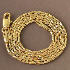 500*2mm Twisted 9K Gold Filled Womens Unisex Bracelet F5015