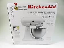 KitchenAid K45SSWH 4.5 Quart Easy Access Tilt-Head Stand Mixer W/ Attachments